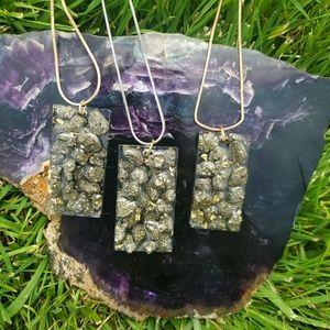 Pyrite pendant necklace